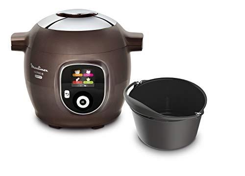 Moulinex Multicuiseur Intelligent Cookeo + Gourmet 6L 6 Modes de Cuisson 150 Recettes Préprogrammées Jusqu'à 6 Personnes + Moule à Gâteaux inclus Marr