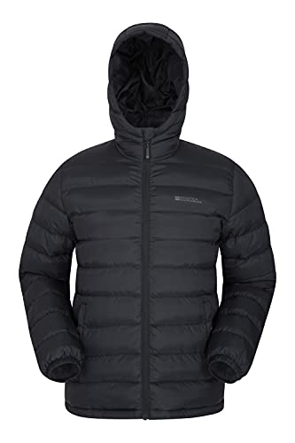 Mountain Warehouse Season Mens Padded Jacket – Water Resistant Jacket, Lightweight, Warm, Lab Tested to -30C, Microfibre Filler