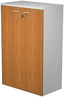Ideapiu Mobile with brush laminated melamine grey aluminium with walnut melamine doors with lock  meas  80X33X120H  Cabinet with shelves