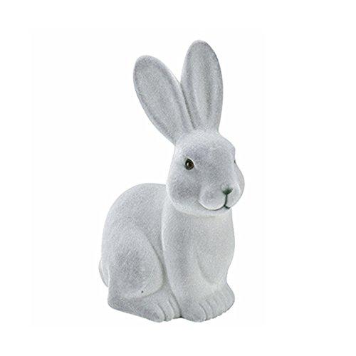 Vosteen Coniglietto Grande Victor Grigio Shabby Turchese Coniglio Pasquale in Velluto Peluche Coniglietto