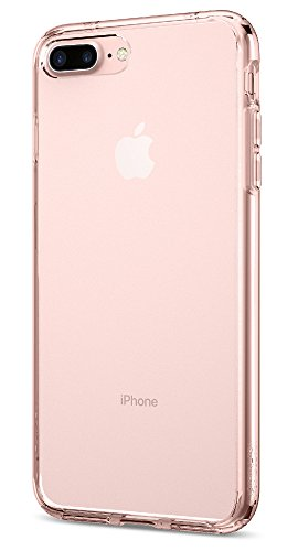 Spigen Funda iPhone 7 Plus, [Ultra Hybrid] Amortiguacion neumatica [Rose Crystal] Parte Trasera Transparente de policarbonato + TPU Bumper, Funda Apple iPhone 7 Plus (043CS20549)