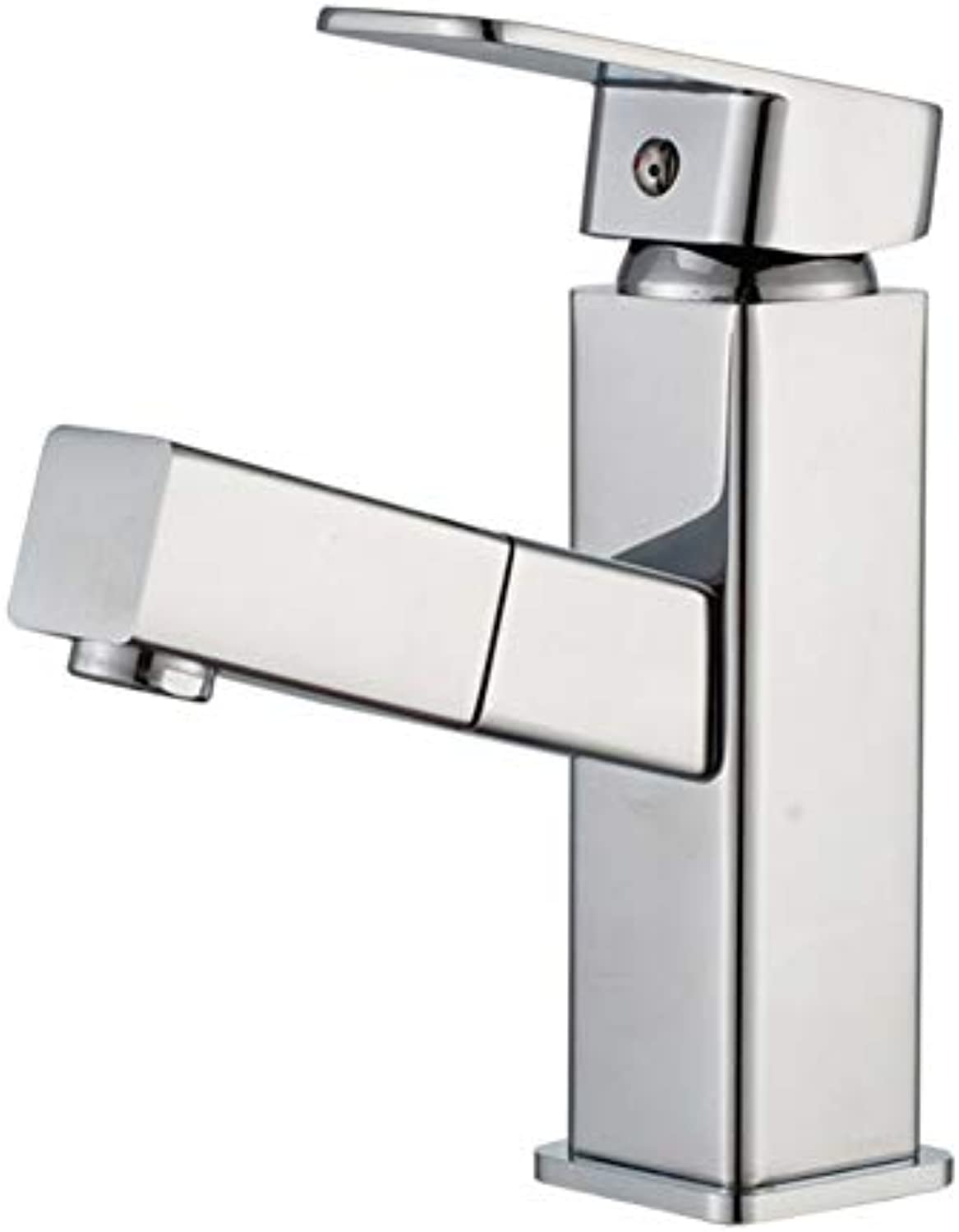 Xiujie Faucet Four-Way Pull-Proof Splash Faucet Bathroom Washbasin Household Hot and Cold Water Faucet