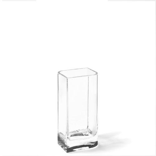 LEONARDO HOME Kasten-Vase Lucca, moderne Deko-Vase, handgefertigtes Unikat in rechteckiger Form aus Glas, H 20 x B 11-cm, 014326