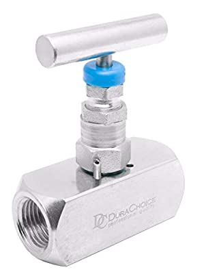 "1/2"" Carbon Steel Needle Valve - Packed Bonnet FxF NPT, 10,000PSI by DuraChoice"