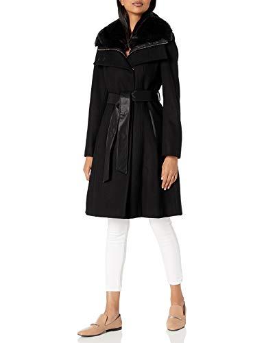 French Connection - Cappotto da donna in lana con pettorina staccabile - Nero - XL