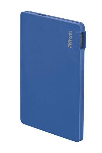 Trust Urban Powerbank 2200T - Ultra-dünner externer Akku (geeignet für Smartphone, 2200 mAh) blau
