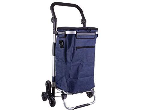 Franky Treppensteiger Einkaufroller Einkaufstrolley mit separater Kühltasche Dark Blue