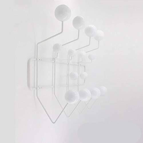 Gather together Perchero de pared para colgar en la puerta, color blanco, con ganchos para decoración de pared, multicolor