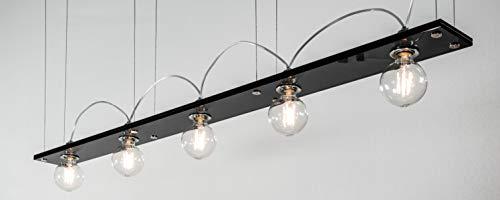 Lumières de juge à LED Bauhaus Pro100 avec verre anthracite, avec ampoule LED à filament globe 6 W, transparent, non réglable