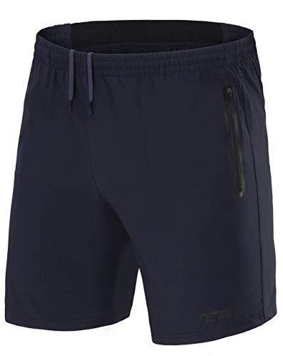 TCA Pantaloncini da Uomo Elite Tech da Corsa con Tasche con Zip - Night Sky (Blu), XL
