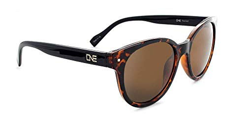 Optic Nerve, Hotplate, Women's Sunglasses - Shiny Honey Demi with Black Frame, Polarized Brown Lens
