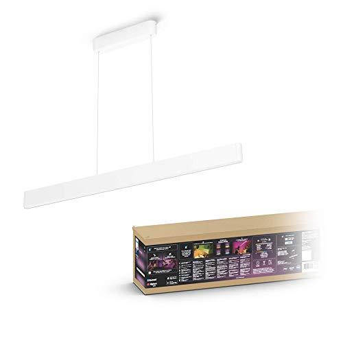 Philips Hue – Lámpara inteligente, Hue Ensis, Lámpara Colgante LED Inteligente, Luz Blanca y de Colores, Compatible con Alexa y Google Home, Color Blanco