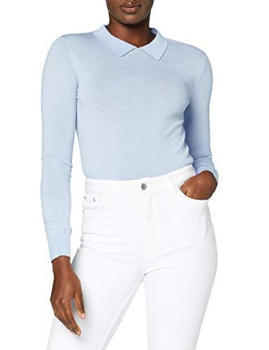 MERAKI Damen Pullover aus Merinowolle, Blau (hellblau), 40, Label: L