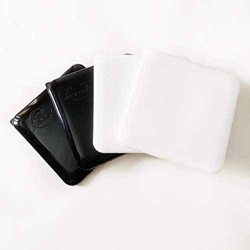 Cussi Mask Case-pack de 4 estuches cuadrados para mascarilla (BLANCO, NEGRO)
