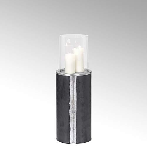 Lambert Maio vloerlamp m/glas nikkel/antraciet mtl H80 40879