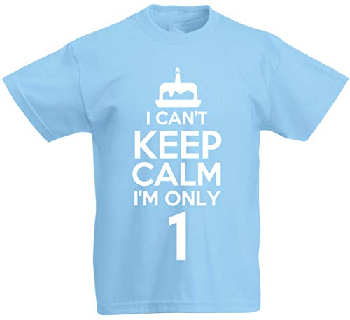 I Can't I'm Only 1-1st Birthday Gift T-Shirt for 1 Year Old Boys & Girls...