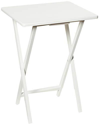 PJ Wood Folding TV Tray & Snack Table - White