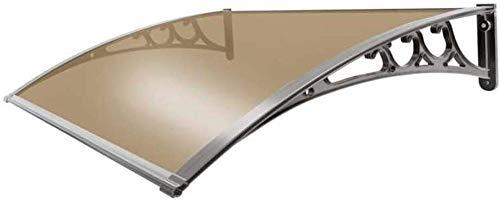 HRUI 80x150cm Bogen Vordach Türdach Silent Rainproof Anti-Taifun Überdachung Polycarbonat mit Einer Tiefe Vordach Pultbogenvordach Haustürüberdachung Haustürvordach Pultvordach