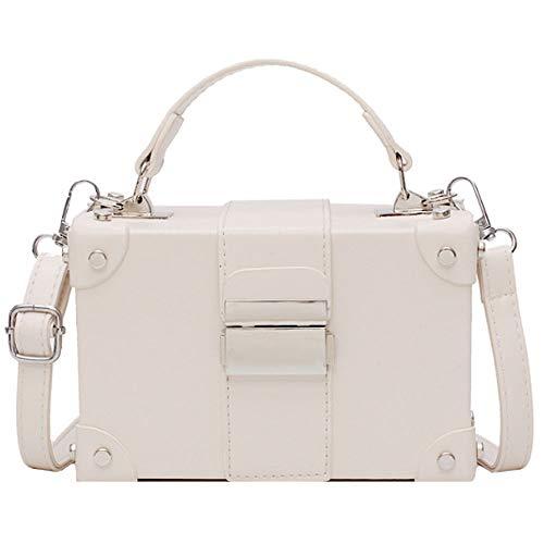 Van Caro Damen Mädchen Box Clutch Crossbody Schulter Geldbörse Party Reisetasche, (5156 Cremeweiß), Einheitsgröße