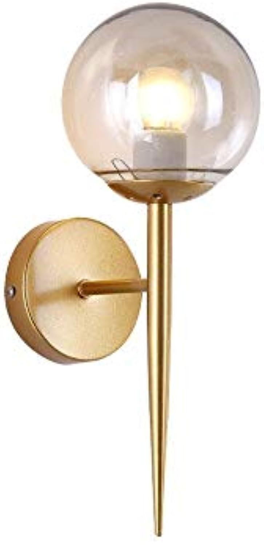 Jiang-ZD Wandlampe, Moderne Glaswand Lampe Esszimmer Schlafzimmer Wohnzimmer