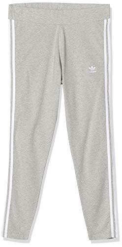 adidas 3 Stripes Tight Leggings Sportivi, Donna, Medium Grey Heather/White, 40