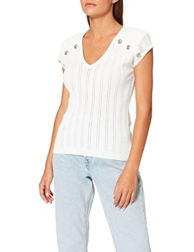 Morgan Pull MC 212-MDIDO Camiseta, Off White, M para Mujer