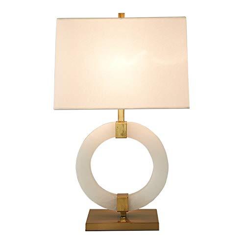 Azabu tafellamp met stenen en ringen, creatief model voor de kamer, eenvoudige slaapkamer, bedlampje.