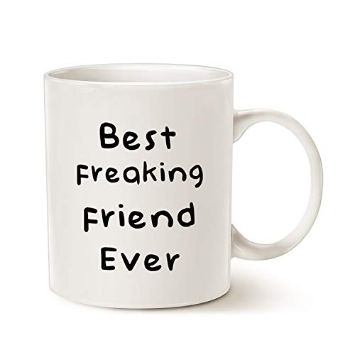 Caneca de café MAUAG Best Friend Best Friend Best Presentes de Feriado para um amigo branco, 325 ml