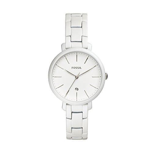 Fossil Damen Analog Quarz Smart Watch Armbanduhr mit Edelstahl Armband ES4397