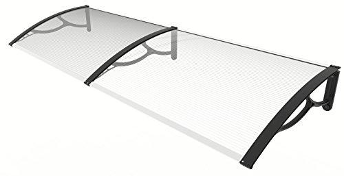 Marquesina de aluminio y policarbonato 80x 200cm