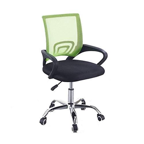 WSDSX Gaming Office Chair,Drehstuhl Heben Drehstuhl Bürostuhl Ergonomischer Mesh-Computerstuhl für Zuhause/Büro/Arbeitszimmer, Grün