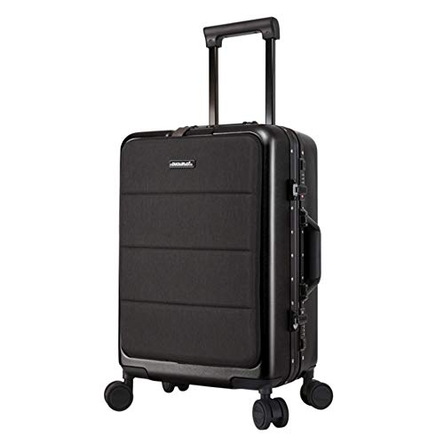 YaGFeng Suitcase Single Piece Soft Shell Travel Trolley Luggage With TSA Lock Lightweight Portable Column Silent Rotator Multi-directional Aircraft Boarding (Color : Dark gray, Size : 20inches)