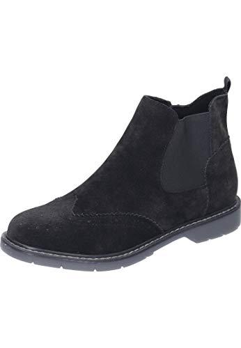 s.Oliver Damen 5-5-25444-23 Chelsea Boots, Schwarz (Black Suede 004), 38 EU