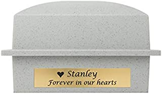 Cremation Urn Vault Polymer Urn Vault for Burial - Granite Grey Outdoor Memorial Vault - Engraving Sold Separately