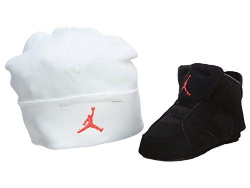 Nike Jordan 6 Retro Gift Pack, Zapatos de Primeros Pasos para Bebés, Negro/Rojo (Black/Infrared 23-Black), 18.5 EU