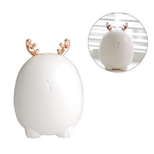 Decdeal Mini Humidificador de Difusor de Aceite Esencial Aromaterapia Hogar Humidificador Ultrasónico Difusores USB (White&Deer)