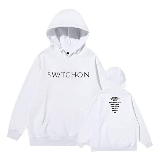 ZIBADTAL Switch ON Logo Sudadera con capucha Astro Kpop para mujer, 1, L
