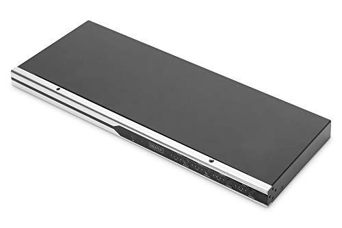 DIGITUS Conmutador de Matriz HDMI 4x4, 19 Pulgadas, 4K/60 Hz, Color Plateado y Negro
