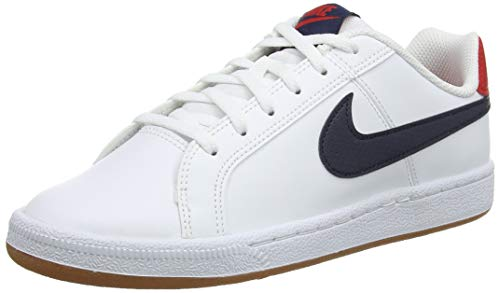 Nike Court Royale (GS), Zapatillas de Gimnasia para Niños, Blanco (White/Obsidian/Univ Red/Gum Lt Brown 107), 38 EU