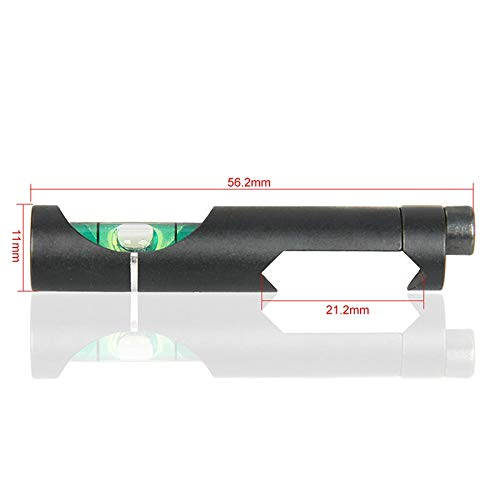 LSHBAO-HUNT, Tactical/Airgun Scope Alloy Wasserwaage Bubble für 21,2 mm Zielfernrohr Rail Weave/Picatinny On Hunting Gun Scope