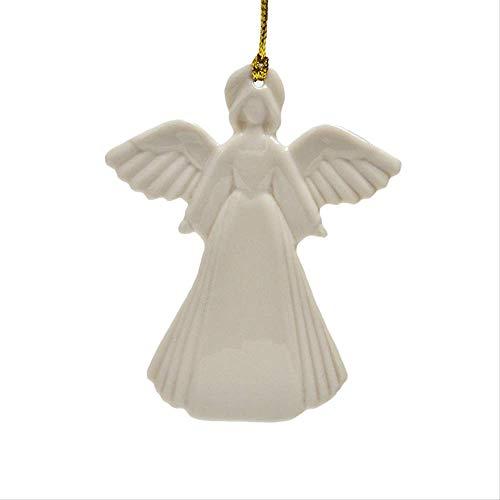 SUPERHUA Navidad Decoración del árbol de Navidad Colgante de ángel Decoración de la habitación de los niños Regalos Colgantes de cerámica