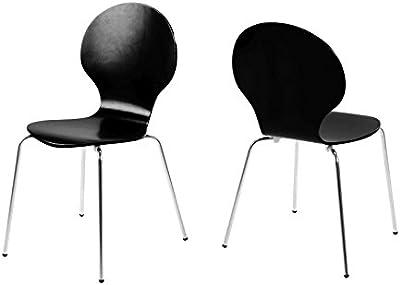 13 Casa Demeyere 998865 Studio Stühle, Metall/Kunststoff, Weiß, 4 Stück