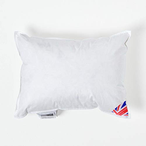 """Homescapes Duck Feather Cushion Pad 30 x 40 cm (12"""" x 16"""") Inner Insert Filler with 100% Cotton Down Proof Cover Hypoallergenic RDS Certified Machine Washable"""