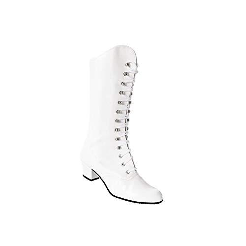 Kochmann Majorette - Stivali da ballo sintetici, colore bianco, taglia 36