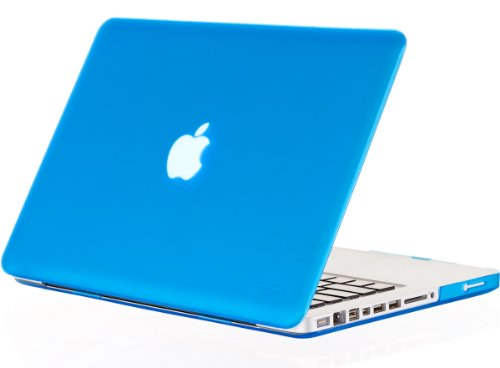 Kuzy - Rubberized Plastic Case for Older MacBook Pro 15.4 (Model: A1286) with DVD Drive Glossy Display Matte Cover - Aqua Blue