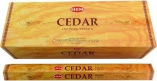 Encens Cèdre – Ourlet marque – 1 Boîte de environ 120 bâtonnets