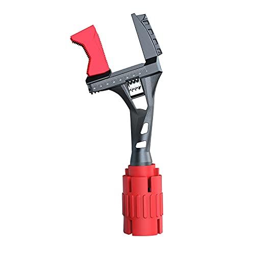 ZCFGUOI Llave ajustable para baño, mandíbula ancha de la mordaza ancha de la abertura ancha de la pipa de agua ajustable multifuncional llave de mantenimiento para fontanería automotriz e industria