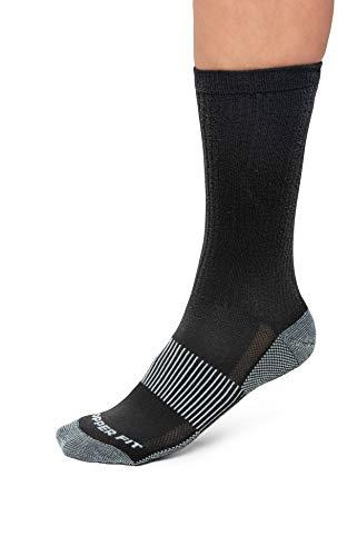 Copper Fit Unisex-Adult's Crew Sport Socks-2 Pack, black, Small/Medium