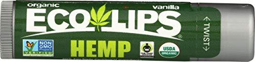 Eco Lips, Lip Balm Hemp Vanilla Organic, 0.15 Ounce