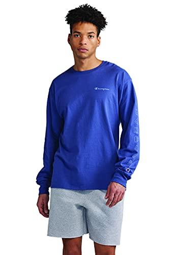 Champion Camiseta clásica de manga larga para hombre, Classic Sky Blue-586584, Medium